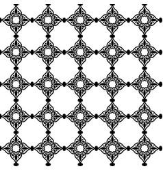 Geometric flower pattern in moroccan style in blue vector