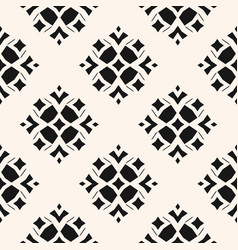 geometric ornamental seamless black pattern vector image