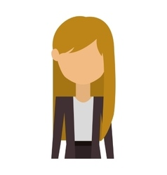 Half body woman in costume with long blonde hair vector