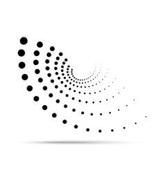 halftone circular dotted insignia dots emblem vector image