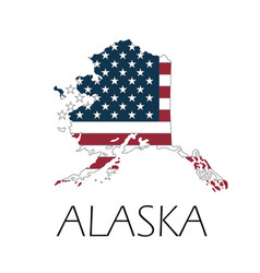 happy alaska day graphic map vector image
