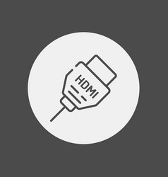 Hdmi cabel icon sign symbol vector