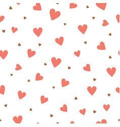 heart seamless pattern valentines day and wedding vector image