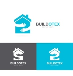 house and hands logo combination Real vector image