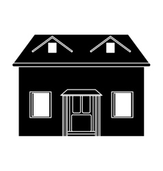 house facade loft pictogram vector image