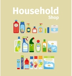 Household goods shop icon set vector