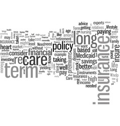 How to know if you need long term care insurance vector