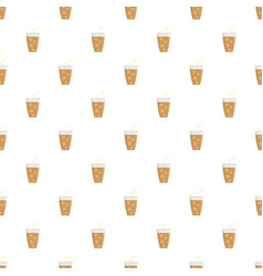 Ice cappuccino pattern seamless vector
