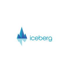 iceberg logo design symbol icon vector image