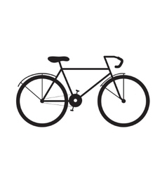 Icon bike Bicycle in profile vector image
