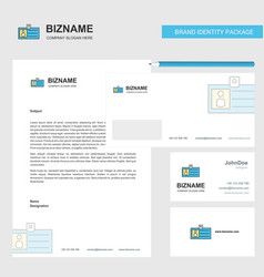 id card business letterhead envelope and visiting vector image