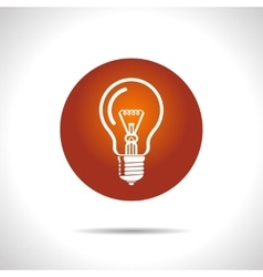 Light lamp icon Eps10 vector