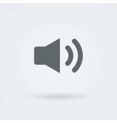 Minimalistic icon of sound vector image