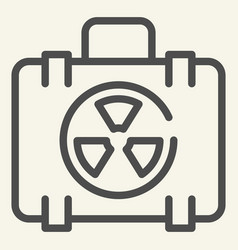 nuclear case line icon nuclear safety suitcase vector image