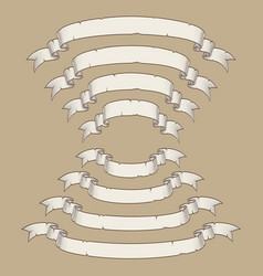 papyrus scroll curved center uwards n downwards vector image
