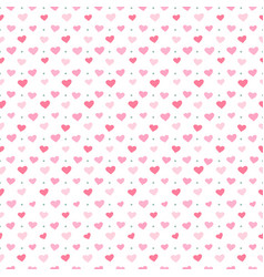 pattern pink hearts vector image