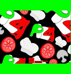 Pizza menu chalkboard cartoon background vector
