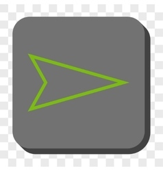 Pointer Right Rounded Square Button vector image