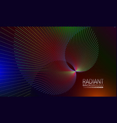 Radiant background design with iridescent dots vector
