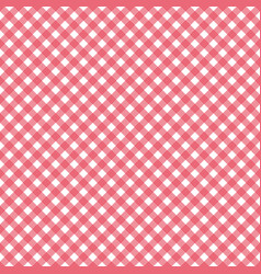 red gingham pattern vector image