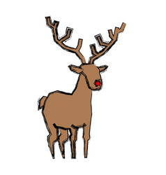 Reindeer christmas animal vector