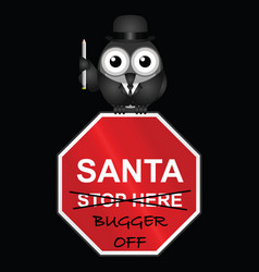 santa not welcome vector image
