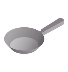 satin copper frying pan vector image
