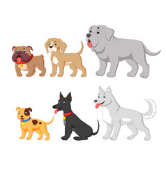 set collection with cute cartoon dog vector image