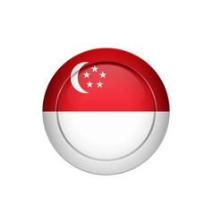 singaporean flag on the round button vector image