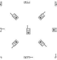 Talkie radio pattern seamless vector