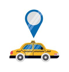 taxi transport pointer location vector image