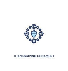 Thanksgiving ornament concept 2 colored icon vector