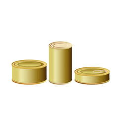tin cans vector image