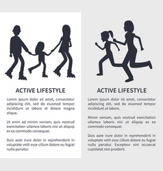 two active lifestyle bright vector image
