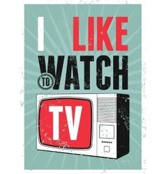 Typographic retro grunge tv poster vector