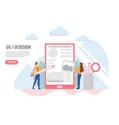user experience and user interface concept with vector image