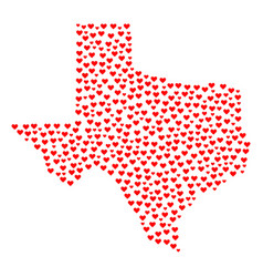 Valentine collage map of texas state vector