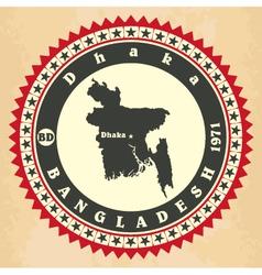 Vintage label-sticker cards bangladesh vector