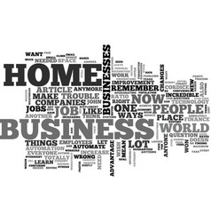 What home business text word cloud concept vector