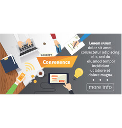 business conference or meeting concept vector image