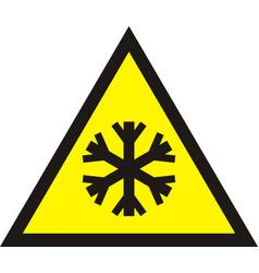 cold warning sign vector image