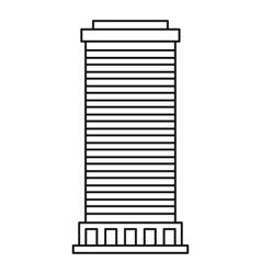 Column icon outline style vector