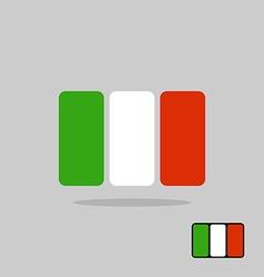 Italy flag stylized Flag Italian of geometrical vector image vector image