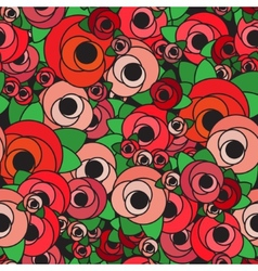 Seamless background pattern with flowers vector image