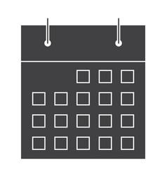 stylish calendar silhouette vector image vector image