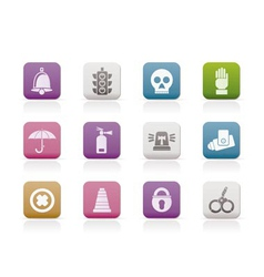 surveillance and security icons vector image
