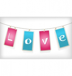 valentine hanging labels vector image vector image