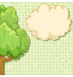 abstract cartoon tree vector image