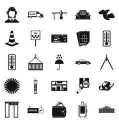 dispatcher icons set simple style vector image vector image