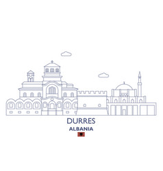durres city skyline vector image vector image